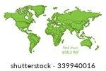 hand drawn world map doodled... | Shutterstock .eps vector #339940016