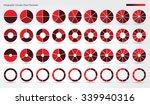 big set  of wheel diagrams with ... | Shutterstock .eps vector #339940316