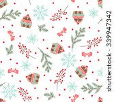 christmas and new year seamless ... | Shutterstock .eps vector #339947342