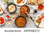 country dinner tabletop with... | Shutterstock . vector #339948272
