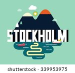 stockholm city is a beautiful... | Shutterstock .eps vector #339953975