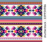 neon color tribal navajo... | Shutterstock .eps vector #339954986