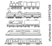 line art train icons | Shutterstock . vector #339957608