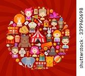 circus vector logo design... | Shutterstock .eps vector #339960698