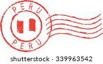 red postal grunge stamp ''peru''... | Shutterstock .eps vector #339963542