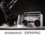 retro ghetto blaster  dust and... | Shutterstock . vector #339969962