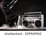 retro ghetto blaster  dust and... | Shutterstock . vector #339969962