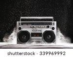 1980s silver retro ghetto... | Shutterstock . vector #339969992