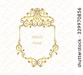 vector decorative frame.... | Shutterstock .eps vector #339970856