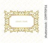 vector decorative frame.... | Shutterstock .eps vector #339970916