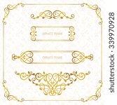 vector decorative frame.... | Shutterstock .eps vector #339970928