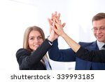 business people group joining... | Shutterstock . vector #339993185