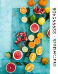 mixed festive colorful tropical ... | Shutterstock . vector #339995408