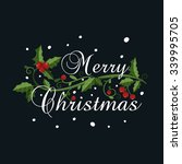christmas vector card with ... | Shutterstock .eps vector #339995705