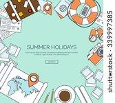 vector illustration  lined.... | Shutterstock .eps vector #339997385
