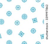 blue snowflakes pattern. pixel... | Shutterstock .eps vector #339997862