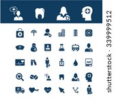 health care  medicine  icons ... | Shutterstock .eps vector #339999512