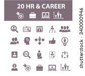 hr  career  job  icons  signs... | Shutterstock .eps vector #340000946