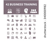 business training  icons  signs ... | Shutterstock .eps vector #340000982