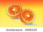 orange cut in half  vector | Shutterstock .eps vector #3400105