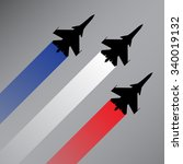 fighter planes with the flag of ... | Shutterstock .eps vector #340019132