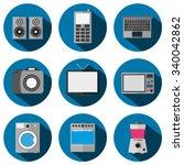 a set of flat icons ...