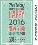 retro vintage happy new year...   Shutterstock .eps vector #340048226