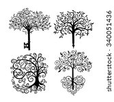 set of different patterned...   Shutterstock .eps vector #340051436