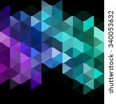 low polygon triangle pattern... | Shutterstock . vector #340053632