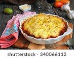 classic delicious shepherd's... | Shutterstock . vector #340066112