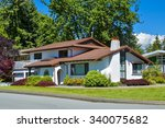 original residential house with ...   Shutterstock . vector #340075682