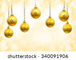 christmas decoration  hanging... | Shutterstock . vector #340091906