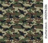 camouflage seamless pattern. | Shutterstock .eps vector #340096286
