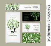 business cards design  family... | Shutterstock .eps vector #340097936
