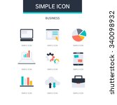 business simple icon set | Shutterstock .eps vector #340098932