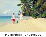 young family with two kids... | Shutterstock . vector #340105892