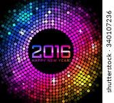 vector 2016 happy new year... | Shutterstock .eps vector #340107236