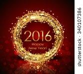 vector 2016 happy new year... | Shutterstock .eps vector #340107386