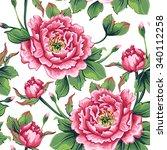 Seamless Pattern Of Flowers...