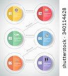 6 steps infographic template.... | Shutterstock .eps vector #340114628