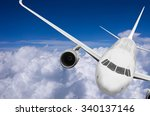 airplane flying high above the...   Shutterstock . vector #340137146