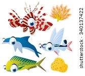 cute vector comic cartoon fish...