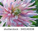 watercolor painting. flower... | Shutterstock . vector #340140338