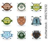emblems golf in black on a... | Shutterstock .eps vector #340170152