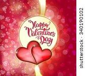 hearts and original hand... | Shutterstock .eps vector #340190102