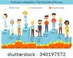 profession infographics... | Shutterstock .eps vector #340197572