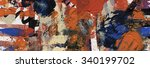 acrylic on canvas  abstract... | Shutterstock . vector #340199702