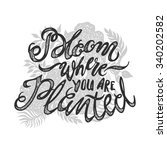 bloom there are you planted... | Shutterstock .eps vector #340202582