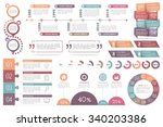 nfographic elements set  ... | Shutterstock .eps vector #340203386