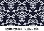 seamless floral background | Shutterstock .eps vector #34020556